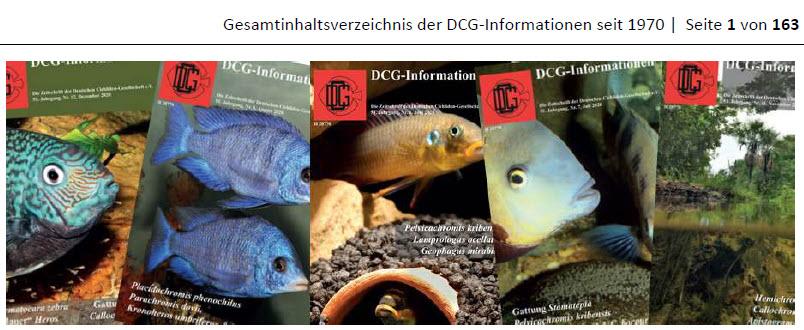 gesamtinhaltsverzeichnis der dcg informationen seit 1970 stand 210715 1